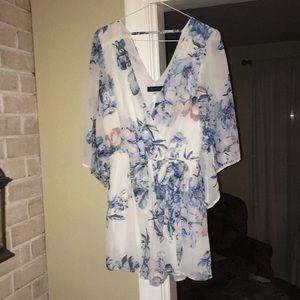 Women's Floral Dressy Romper